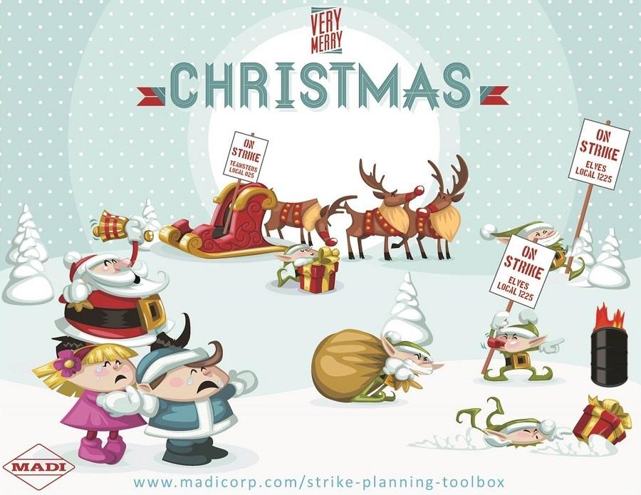 Santa's Reindeer & Elves Strike Just Days Before Christmas